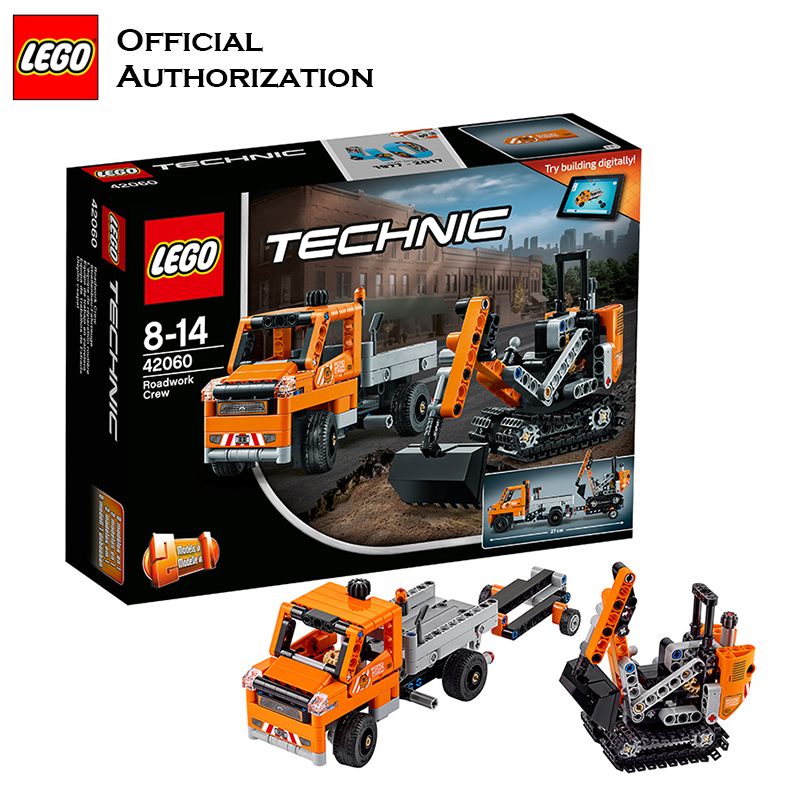 <font><b>Lego</b></font> Brand Technic Series Engineer Building Blocks Machineshop Truck Repair the Roads Multifunctional Blocks <font><b>42060</b></font> For Gift image
