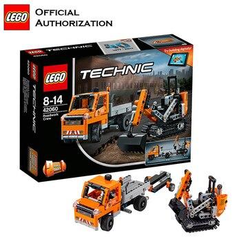 Lego Brand Technic Series Engineer Building Blocks Machineshop Truck Repair the Roads Multifunctional Blocks 42060 For Gift