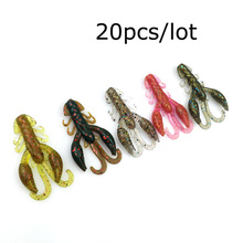 20pcs/lot soft baits fishing lures soft lure jig wobbler swivel rubber lure fishing worms soft shrimp bass lure free shipping121