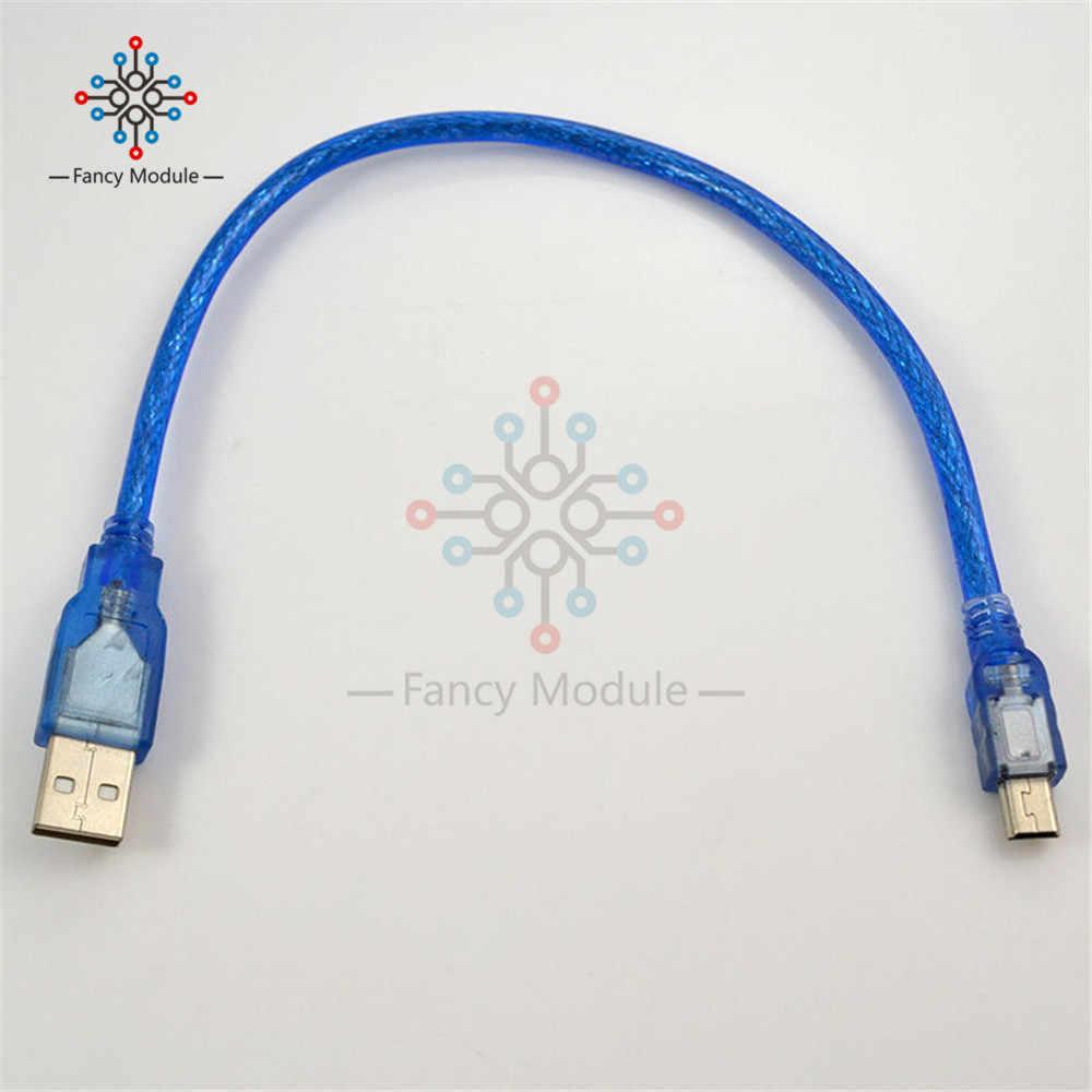 30 سنتيمتر USB 2.0 ذكر إلى Mini B 5pin ذكر كابل بيانات الكمبيوتر الحبل يؤدي موصل عالية السرعة