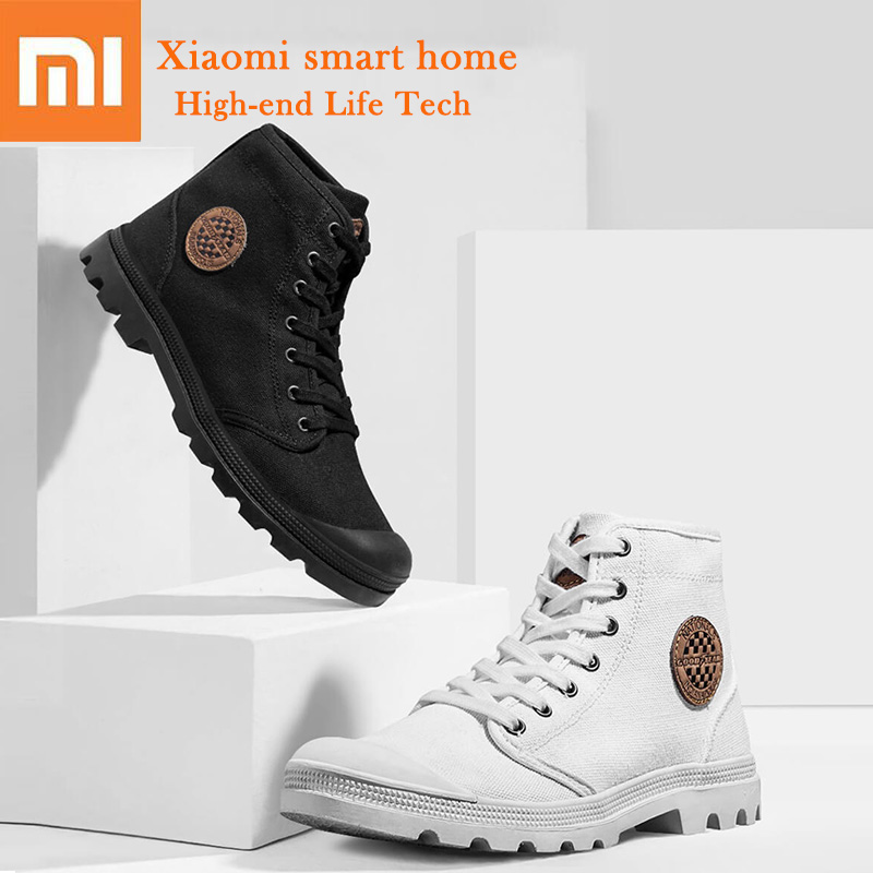 Xiaomi Canvas Shoes Tire Sole Wear Resistant Non slip Outdoor Hiking Shoes soft Rubber 360 Degree
