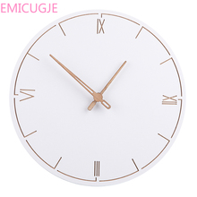 Simple Silent Wall Clocksfor Home Decor Pure White Type Wall Clock Quartz Modern Design Timer 29cm Nordic Style Fashionable