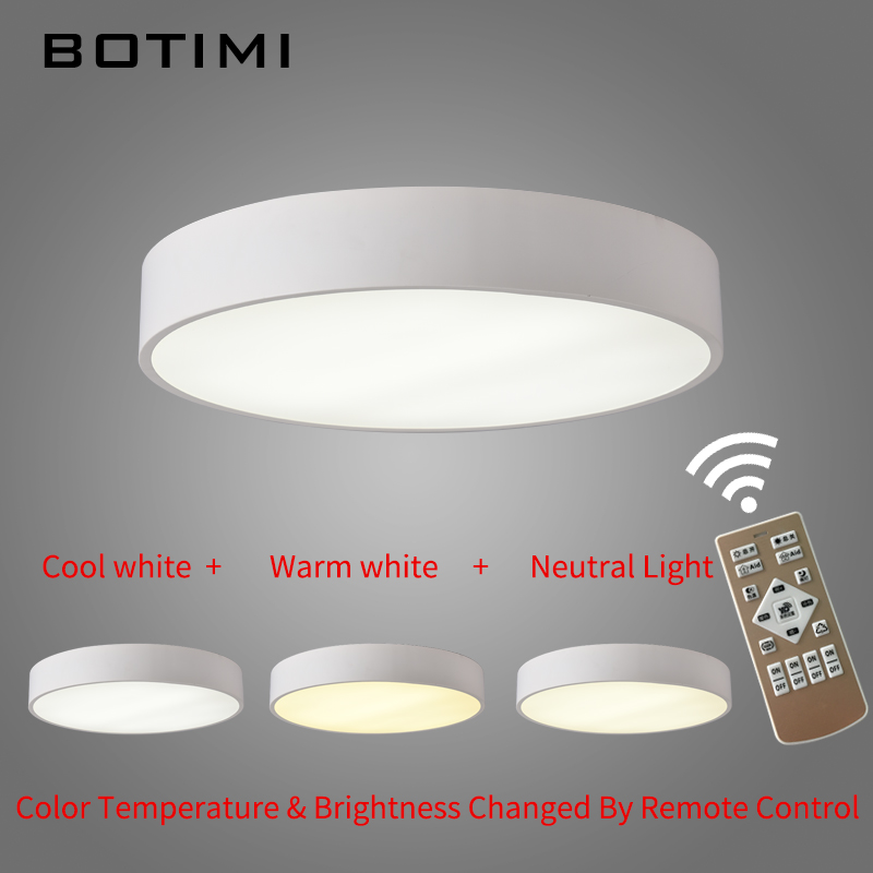 Botimi led round ceiling lights in black white surface mount lamp botimi led round ceiling lights in black white surface mount lamp with remote dimmable for bedroom dining living room balcony in ceiling lights from lights mozeypictures Gallery