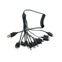 Gorąca sprzedaż wielofunkcyjny kabel do ładowarki 10 w 1 uniwersalny kabel Micro Mini USB Multi Jack kabel do ładowarki zestawy sprężyn