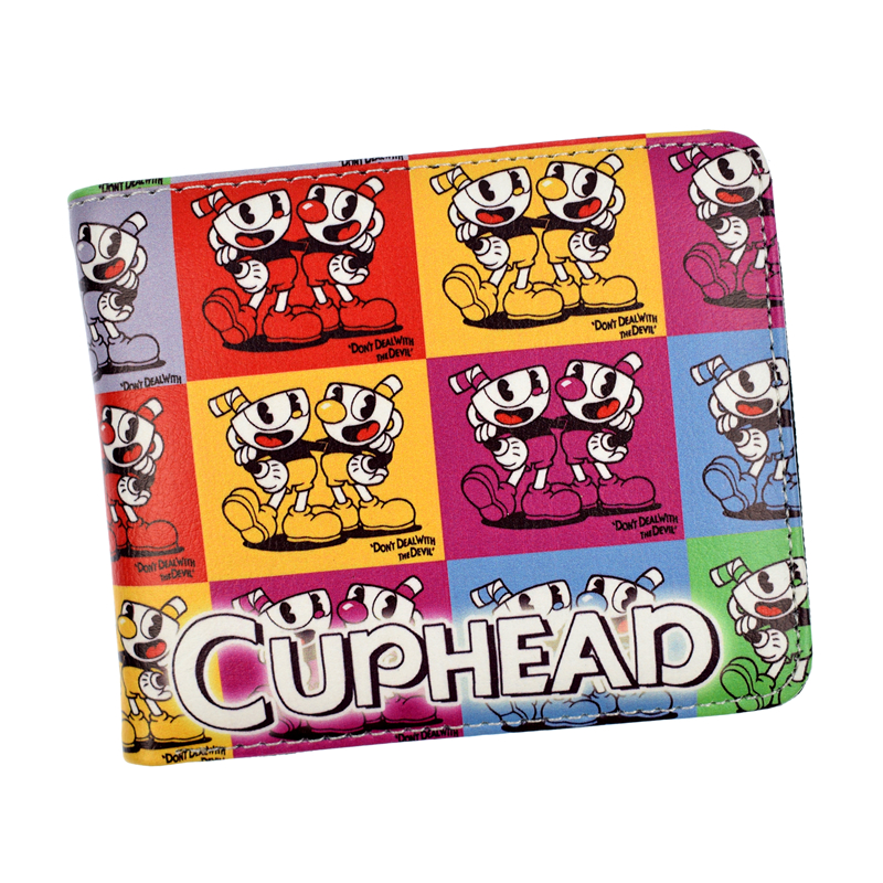 New CUPHEAD Wallet Cartoon Purse For Young With Coin Pocket