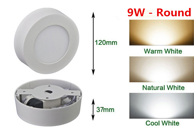 HTB13tX8aiYrK1Rjy0Fdq6ACvVXa9 LED Surface Ceiling Light 9W 15W 25W Ceiling Lamp AC85-265V Driver Included Round Square Indoor Panel Light For Home Decor