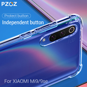 PZOZ Case For Xiaomi Mi 9 SE Mobile Phone Protective Bag Transparent Shockproof Silicone Clear TPU Soft Shell For Xiaomi Mi9 SE(China)