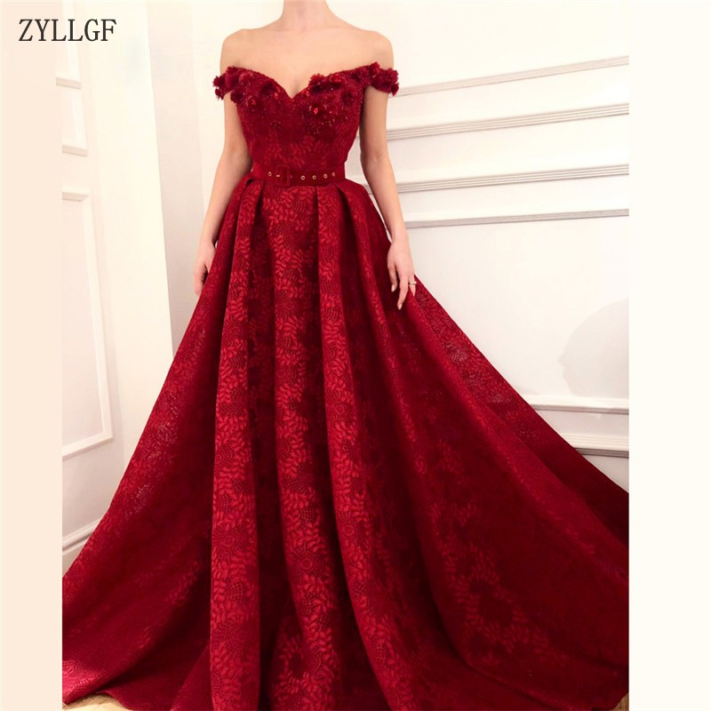Friendly Zyllgf African Red Evening Dresses Vestidos De Festa Kaftans Dubai Turkish Arabic Aibye Prom Dress Formal Evening Dress Mc40 With Traditional Methods Weddings & Events