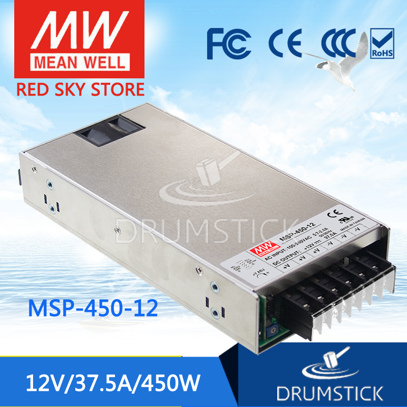 100% Original MEAN WELL MSP-450-12 12V 37.5A meanwell MSP-450 12V 450W Single Output Medical Type Power Supply 100% original mean well msp 100 36 36v 2 9a meanwell msp 100 36v 104 4w single output medical type power supply