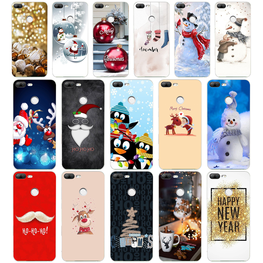 147WE happy New Year merry Christmas Soft Silicone Tpu Cover phone Case for huawei <font><b>Honor</b></font> 8 <font><b>9</b></font> 10 <font><b>Lite</b></font> 8X p 8 <font><b>9</b></font> <font><b>lite</b></font> 2017 image