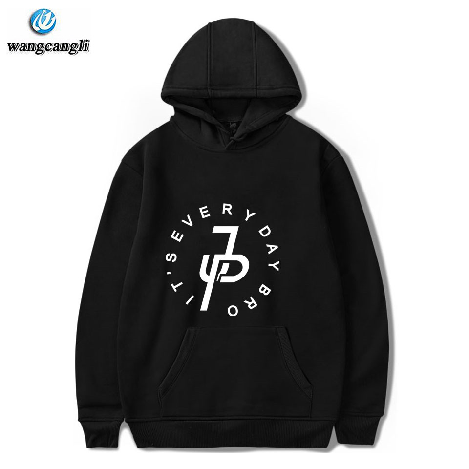 Джейк Paul толстовки Для мужчин Для женщин унисекс хип-хоп свитер с капюшоном черный/белый X логотип пуловер куртка с капюшоном Джейк Paul