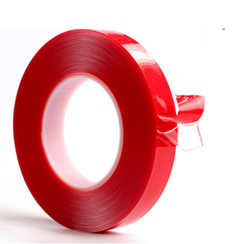 Double Side Clear Tape Heat Resistant Double-side Transparent Adhesive Acrylic Tape 50M Waterproof mobile phone screen repair striped tape side pocket skirt