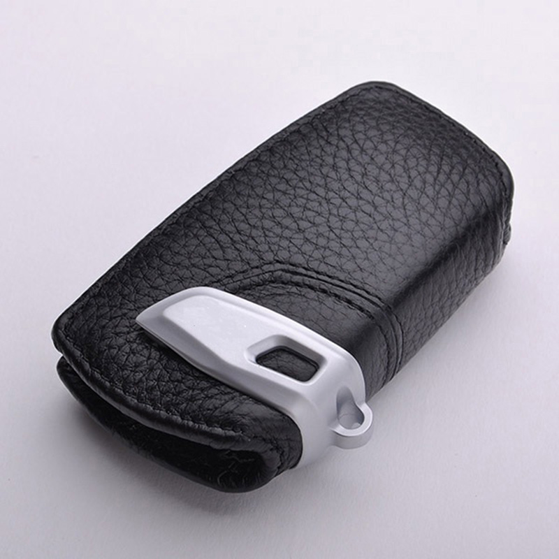 Genuine leather car key Sticker cover case for bmw F10 F20 118I F30 NEW 1 2 3 4 5 6 series X3 X4 320I 116I 328I 530I key sticker