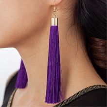 Vintage Black Long Tassel Earrings for Women Fashion Jewelry Bijoux Gold Statement Dangle Drop Earings Za Pendant Gift Brincos(China)