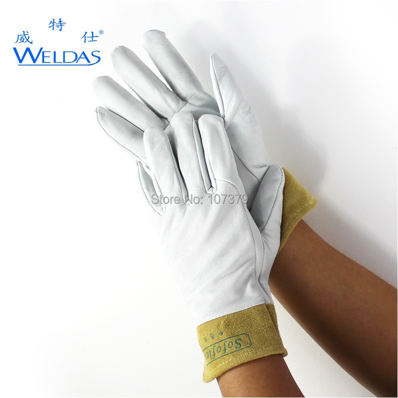 Sheepskin leather work glove tig mig argon arc welding safety glove leather safety glove deluxe tig mig leather welding glove comfoflex leather driver work glove