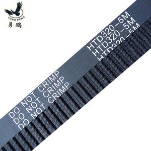 Image 1 - 5pcs HTD5M belt 320 5M 12 Teeth 64 Length 320mm Width 12mm 5M timing belt rubber closed loop belt 320 HTD 5M S5M Belt Pulley