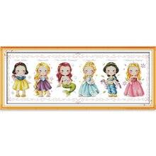 Freude Sonntag Die Prinzessin Gezählt Kreuzstich 11CT 14CT DMC DIY Kreuzstich Kits Stickerei Für Home Decor Hand K859
