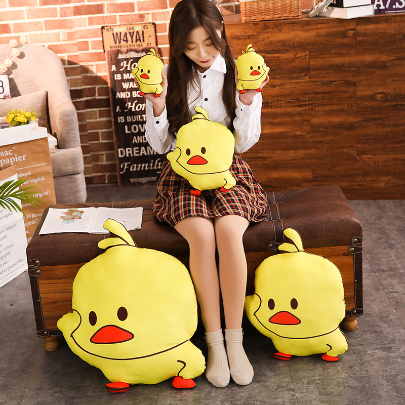 17cm Hot Funny Yellow Duck Plush Pendant Soft Cartoon Animal Duck Stuffed Doll Bag Keychain Toys Mini Toy Pendant Kids Best Gift image