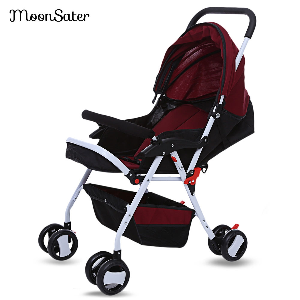 Moonsater 1602 Foldable Baby Stroller Pram Universal Casters Easy Carry Umbrella Portable Lightweight Baby Carriage Push Cart