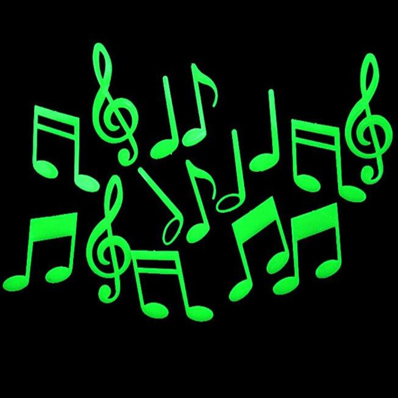 Musical Note Form Novel For Kids Light Stars Fluorescent Party Glow Toy Glow In The Dark Stars Luminous Stickers Glowing Toys