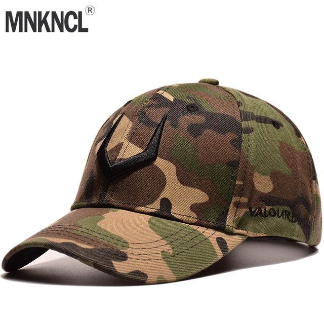 0637a828 2018 New Camouflage Baseball Cap Men Tactical Hat 3 D Embroidery Camouflage  Snapback Hat For Men High Quality Bone Dad Hat Truck