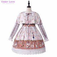 Daily clothes Sweet Love Lolita Cookie rabbit sets dress coat shawl