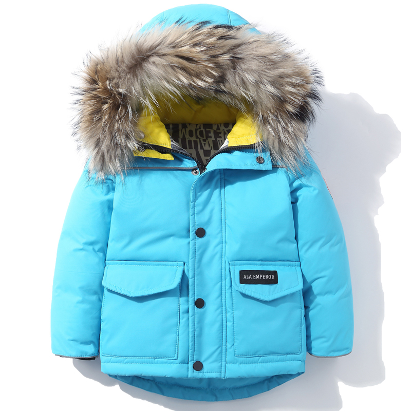 Children's Down Jacket Boy Parkas 2019 Kids Winter Warm Thicken Waterproof Windproof Coat & Jacket Children Windbreakers 2-6T