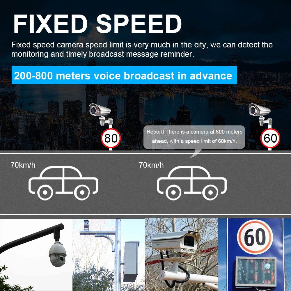 Image 5 - Car Radar Detector English Russian Auto 360 Degree Vehicle M6 M7 Speed Voice Alert Alarm Warning 16 Band LED Display-in Radar Detectors from Automobiles & Motorcycles