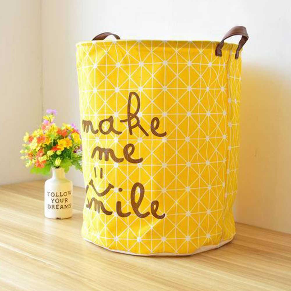 Crianças Carrinho De Criança Saco De Armazenamento Pendurado Organizador Amarelo Grande Roupa Suja Cesta Do Brinquedo Cesta de Piquenique Caixa De Roupas