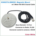 New Arrival KINNUOTA BMW58 Color White MAGNETIC MOUNT SO239 with 5 Meter RG-58/U Coaxial Cable PL259