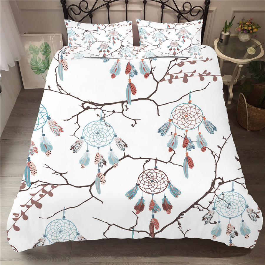 Bedding Set 3D Printed Duvet Cover Bed Set Dreamcatcher Bohemia Home Textiles For Adults Bedclothes With Pillowcase BMW12