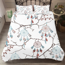 Bedding Set 3D Printed Duvet Cover Bed Dreamcatcher Bohemia Home Textiles for Adults Bedclothes with Pillowcase #BMW12