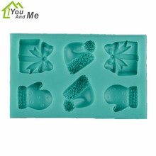 Christmas Gift 3D Silicone Gloves Shape Fondant Mold DIY Chocolate Cake Decorating Tools Mould Baking Tools hallowe shape silicone chocolate mold for cake decorating fondant mould baking tools resin form kitchen cake tools bakeware