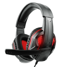 3.5Mm Gaming Headset With Led Light Microphone Stereo Earphones Deep Bass For Ps4 Xbox One Pc Computer Laptop plextone g30 portable gaming headset deep stereo bass pc game earphones with detachable microphone for computer ps4 new xbox one