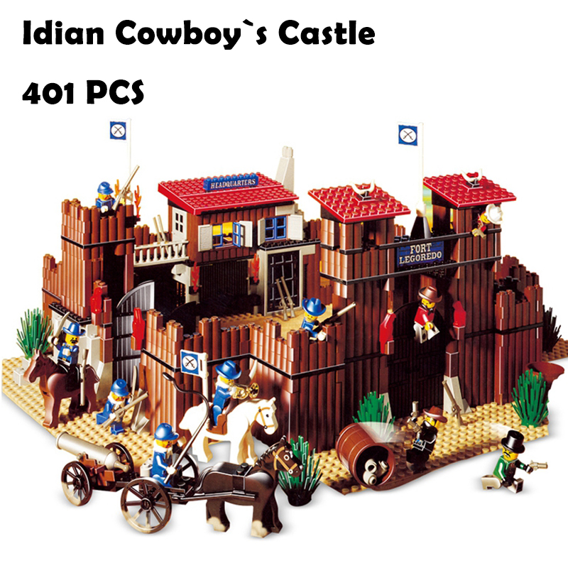 33001 742Pcs The Idian Cowboy`s Castle Set Model Building Blocks Bricks Toys Model Gift Compatible with lego 6769 kazi 608pcs pirates armada flagship building blocks brinquedos caribbean warship sets the black pearl compatible with bricks