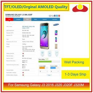 Image 5 - 50 шт./лот DHL для Samsung Galaxy J3 2016 J320F J320M J320 ЖК дисплей с сенсорным экраном дигитайзер панель J320 сборка полная