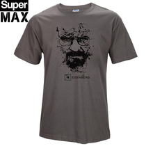 Top quality COTTON o neck heisenberg font b men b font tshirt short sleeve print casual