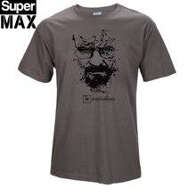Высочайшее качество ХЛОПОК o шеи гейзенберга мужчины футболка с коротким рукавом распечатать повседневная breaking bad печати футболка для мужчин 2017 T01