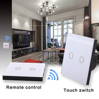 Vhome EU Standard Touch Switches And Remote Wireless Remote Control RF433Mhz Remote Control Wall Lamp Bulb