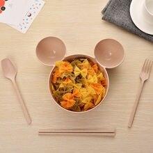 4 шт детские бамбуковые тарелки для кормления Микки Мауса