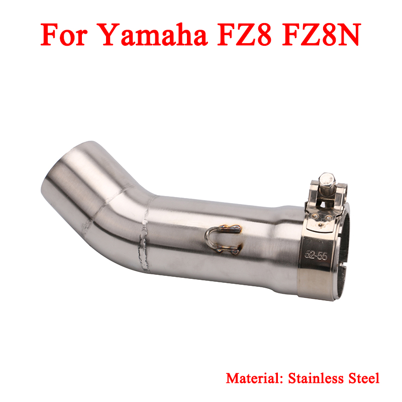 Motorcycle Stainless Steel Middle Connecting Pipe With Exhaust Muffler Tubes For Yamaha FZ8 FZ8N in Exhaust Exhaust Systems from Automobiles Motorcycles