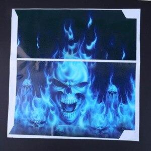 Image 5 - Lửa Đầu Lâu Vinyl Decal Chống Nước Miếng Dán Kính Cường Lực cho PS4 cho Máy Chơi Game Sony Playstation 4 Tấm Bảo Vệ + 2 Miếng Dán cho PS4 Bộ Điều Khiển tay cầm chơi game