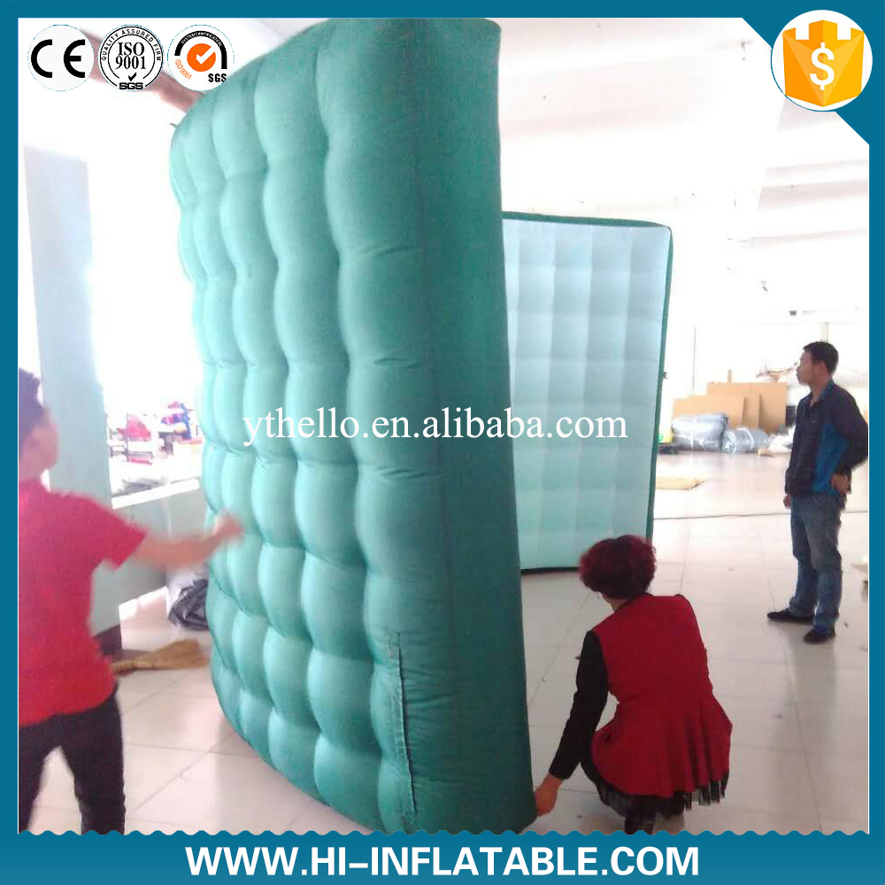 Color booth online - 4 2 4m Color Changing Led Lighting Office Inflatable Photo Booth Wall For Trade Show