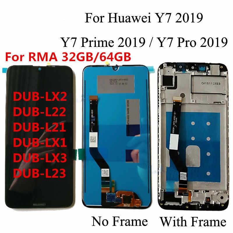 """Оригинальный 6,3 """"для huawei Y7 2019/Для huawei Y7 Prime 2019/Y7 Pro 2019 ЖК-дисплей кодирующий преобразователь сенсорного экрана в сборе с рамкой"""