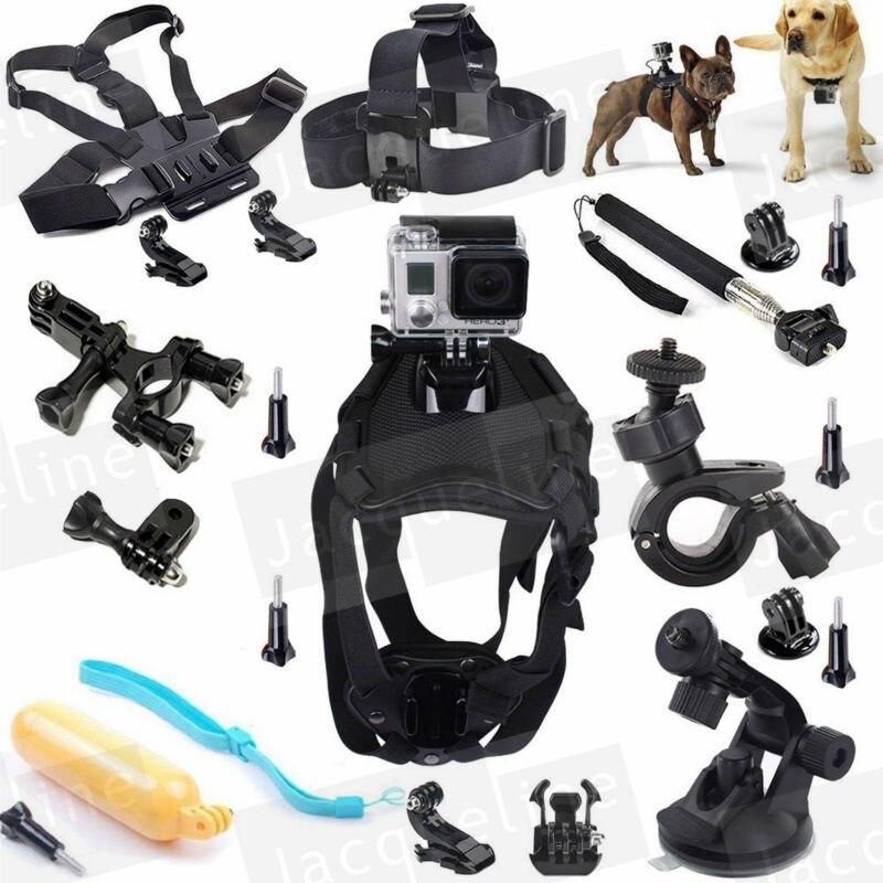 Accessories Sports Dog Mount Harness Kit for GoPro Hero5 Hero 4 Go Pro Hero HD 3+ 3 Black Silver/SJCAM SJ5000/Eken h9r/SOOCOO