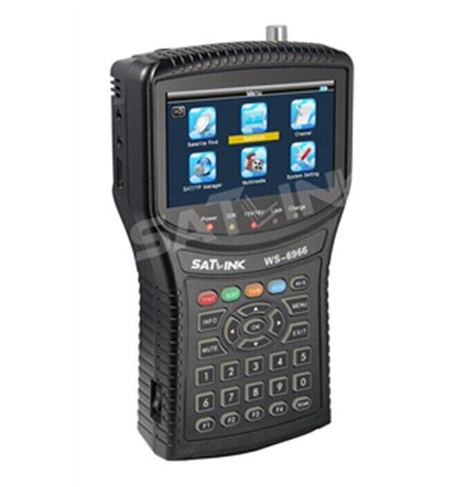 100% Original SATLINK WS 6966 DVB S/S2 HD Spectrum analyzer Satellite Signal Meter Finder Support DISEQC 1.0,1.1,1.2