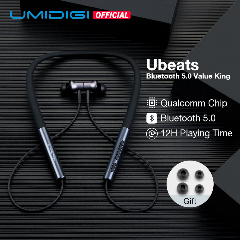 UMIDIGI Ubeats Wireless Earphone Bluetooth 5.0 In-Ear Sport Headset With Mic CVC Noice Reduction Magnetic Neckband Earpieces(China)