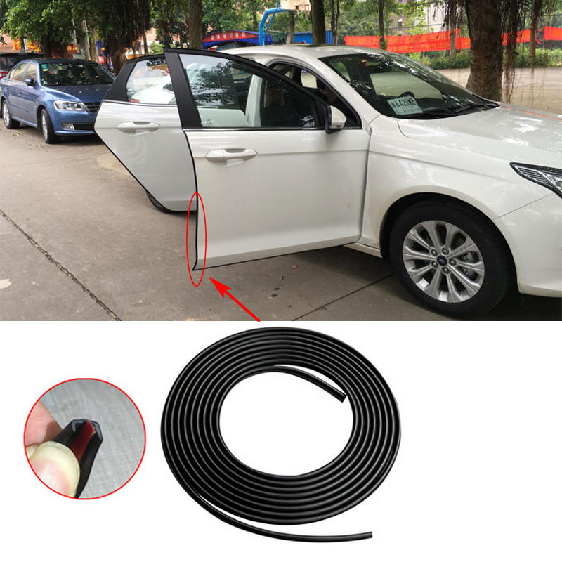 For Toyota Corolla Camry Prado Prius Highlander Crown RAV4 Car styling door trim protection strip 4m/8m Free shipping custom fit car floor mats for toyota camry corolla rav4 mark x crown verso fj cruiser l 3d car styling carpet floor liner ry59