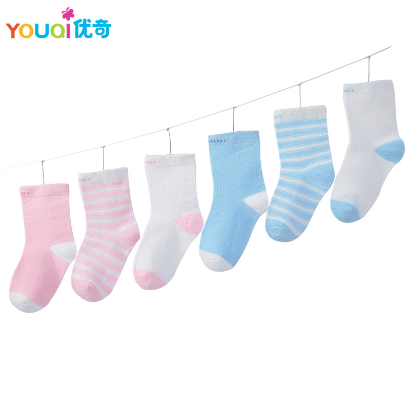3 Pairs Lot Cotton Baby Socks Spring Autumn Newborn 3 6 9 to 24 Months Cute
