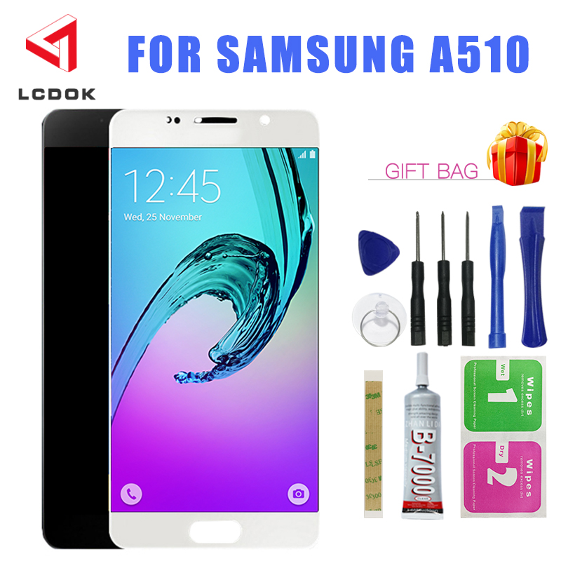 A510 Screen For <font><b>Samsung</b></font> Galaxy A5 2016 Display A510 A510FD <font><b>A510F</b></font> A510M <font><b>LCD</b></font> Display Touch Screen Digitizer Assembly Panel Parts image